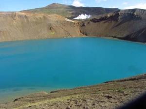 Krater vid Krafla.
