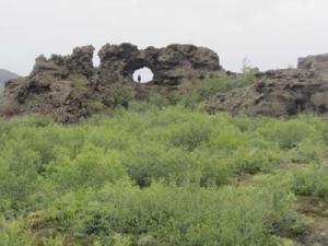 Lavafält i Dimmuborgir.