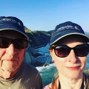Gunnar och Åsa i geopark Spanien